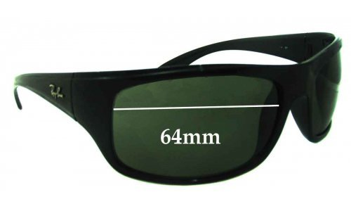 Sunglass Fix Sunglass Replacement Lenses for Ray Ban RB4149 - 64mm Wide