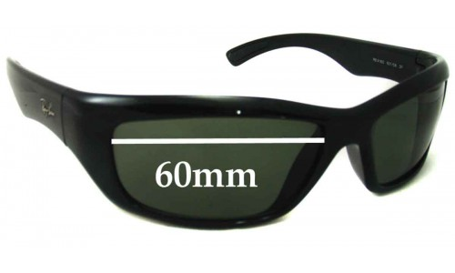 Sunglass Fix Sunglass Replacement Lenses for Ray Ban RB4160 - 60mm across