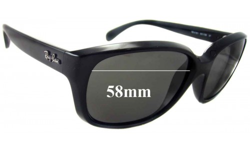 Sunglass Fix Sunglass Replacement Lenses for Ray Ban RB4161 - 58mm wide