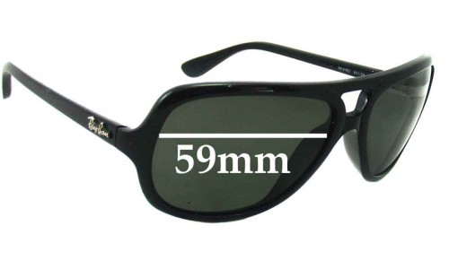 Sunglass Fix Sunglass Replacement Lenses for Ray Ban RB4162 - 59mm Wide