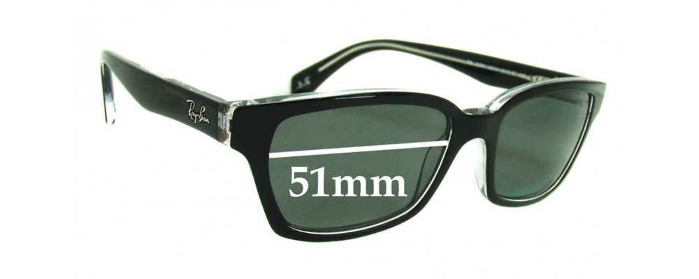 Sunglass Fix Sunglass Replacement Lenses for Ray Ban RB5280 - 51mm Wide