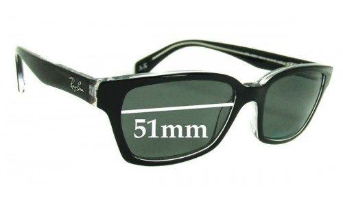 Sunglass Fix Sunglass Replacement Lenses for Ray Ban RB5280 - 51mm wide lenses