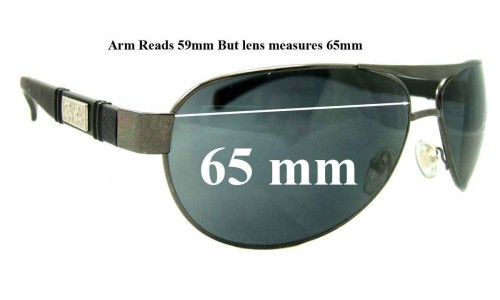 Sunglass Fix Sunglass Replacement Lenses for Ray Ban Aviators RB5313 - 65mm Wide