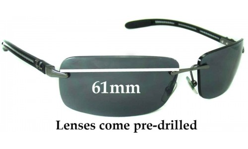 Sunglass Fix Sunglass Replacement Lenses for Ray Ban RB8304 - 61mm Wide