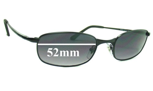 Sunglass Fix Sunglass Replacement Lenses for Ray Ban RB3162 Sleek - 52mm