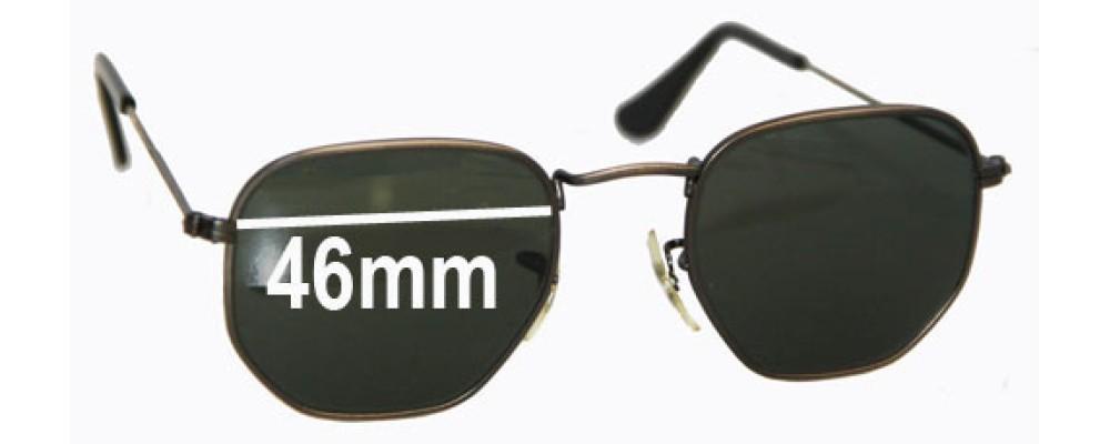 ff3ba53ec32 Ray Ban W0973 Bausch Lomb Sunglass Replacement Lenses - 46mm across ...