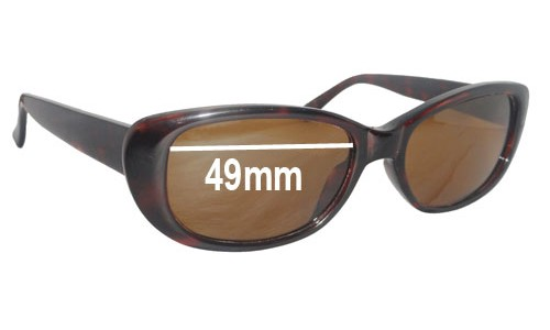 Sunglass Fix Sunglass Replacement Lenses for Ray Ban B&L W3070 Rituals - 49mm Wide