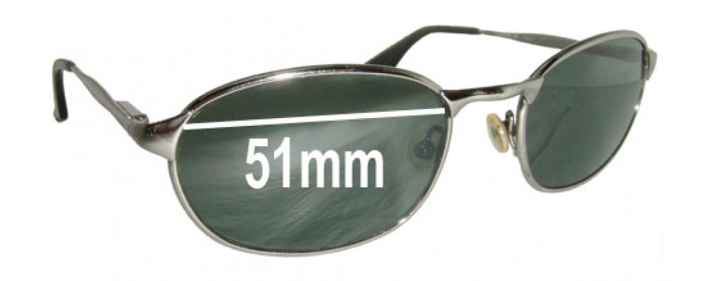 Sunglass Fix Sunglass Replacement Lenses for Ray Ban B&L W3078 - 51mm Wide