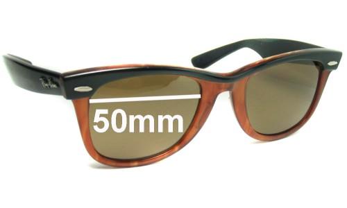 Sunglass Fix Sunglass Replacement Lenses for Ray Ban B&L Wayfarer - 50mm Wide