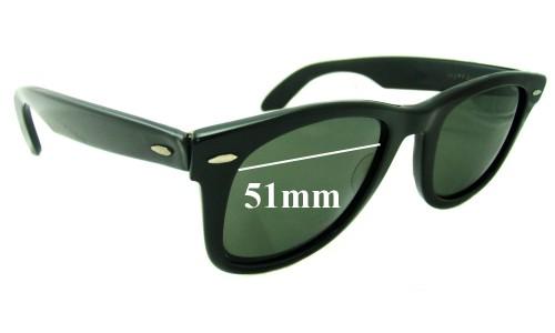 Sunglass Fix Sunglass Replacement Lenses for Ray Ban Wayfarer Bausch Lomb - 51mm wide