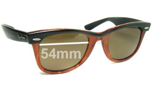 Sunglass Fix Sunglass Replacement Lenses for Ray Ban Wayfarer Bausch Lomb USA 54mm Across x 47.4mm high