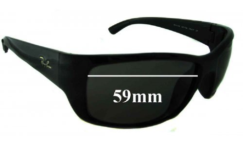 Sunglass Fix Sunglass Replacement Lenses for Ray Ban RB4149 - 59mm Wide