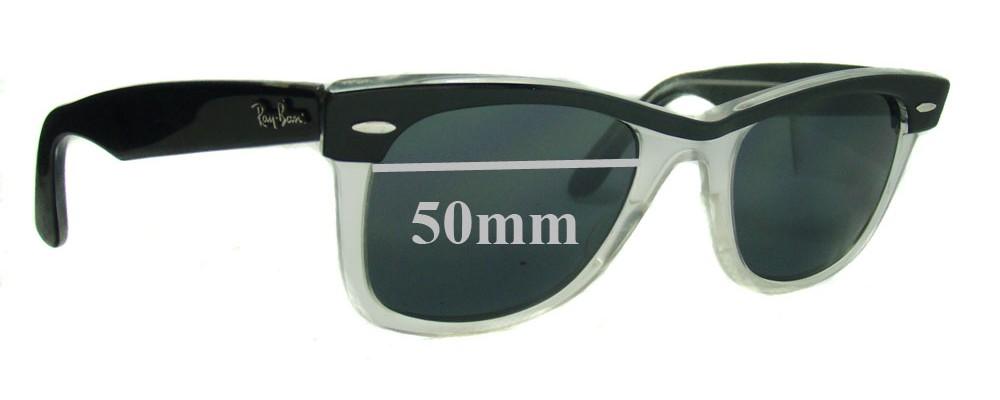 Sunglass Fix Sunglass Replacement Lenses for Ray Ban Wayfarer II RB2143 - 50mm Wide