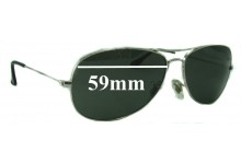 Sunglass Fix Sunglass Replacement Lenses for Ray Ban RB3362 Cockpit - 59mm Wide