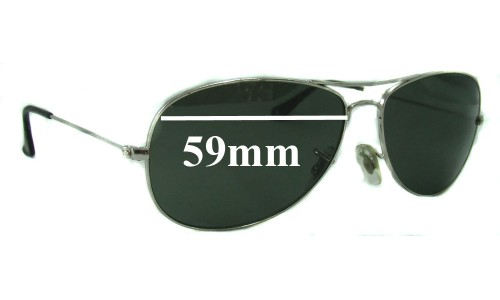 Sunglass Fix Sunglass Replacement Lenses for Ray Ban Cockpit RB3362 - 59mm wide