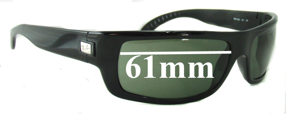 Sunglass Fix Sunglass Replacement Lenses for Ray Ban RB4052 - 61mm Wide