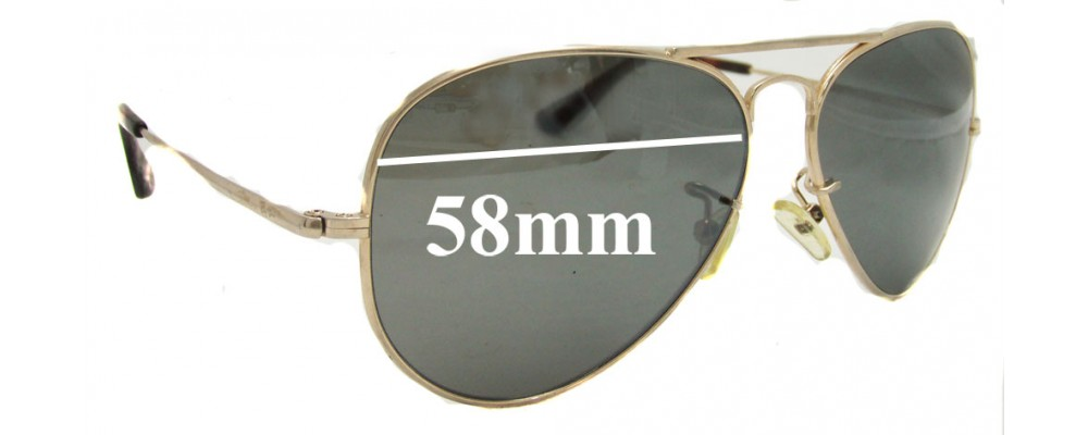 Sunglass Fix Sunglass Replacement Lenses for Ray Ban RB8029-K - 58mm Wide