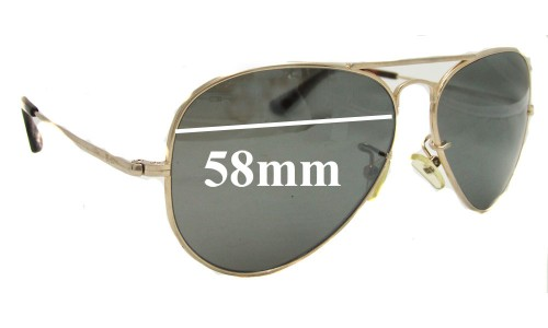 Sunglass Fix Sunglass Replacement Lenses for Ray Ban RB8029K - 58mm wide