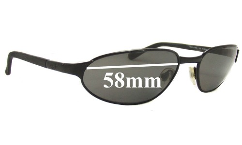 Sunglass Fix Sunglass Replacement Lenses for Ray Ban RAM1551AA - 58mm Wide