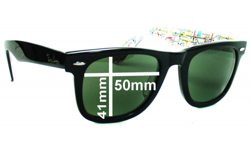 Sunglass Fix Sunglass Replacement Lenses for Ray Ban RB2140 Original Wayfarer 50mm wide lenses