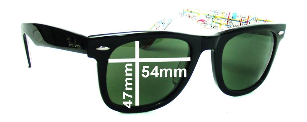 Sunglass Fix Sunglass Replacement Lenses for Ray Ban RB2140 Original  Wayfarer 54mm wide lenses