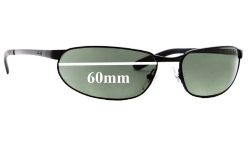 Sunglass Fix Sunglass Replacement Lenses for Ray Ban Flight RB3176 - 60mm Wide