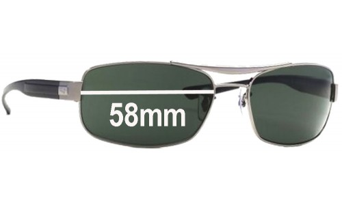 Sunglass Fix Sunglass Replacement Lenses for Ray Ban RB 3302 - 58mm Wide