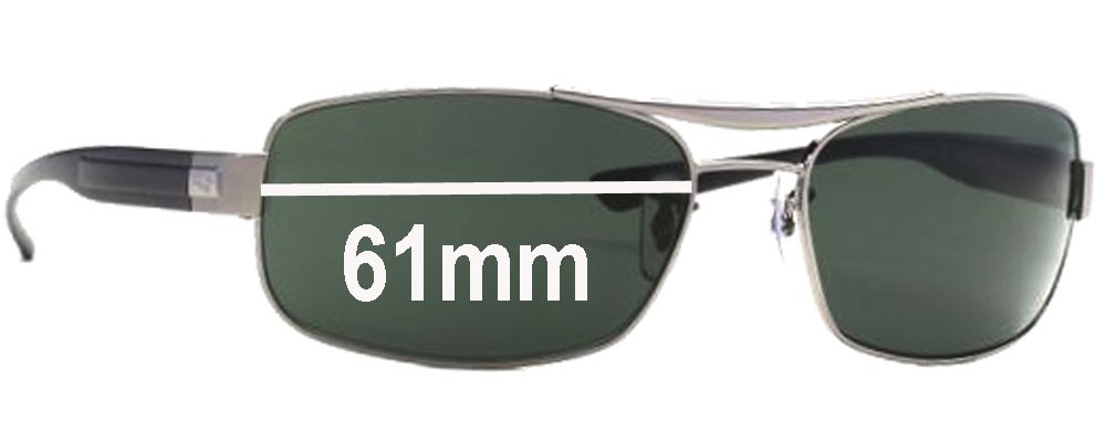 Sunglass Fix Sunglass Replacement Lenses for Ray Ban RB3302 - 61mm Wide