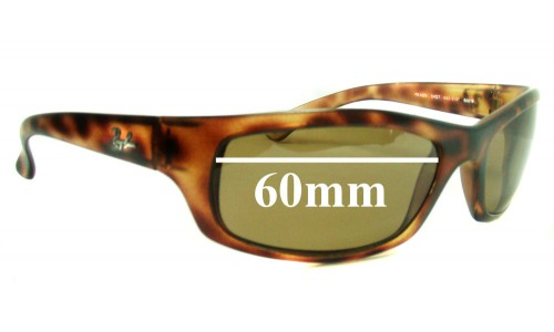 Sunglass Fix Sunglass Replacement Lenses for Ray Ban RB4026 Shot Square - 60mm wide lenses