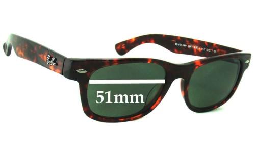 Sunglass Fix Sunglass Replacement Lenses for Ray Ban RB4105 New Wayfarer - 51mm wide