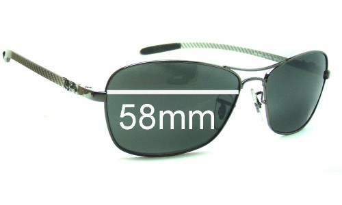 Sunglass Fix Sunglass Replacement Lenses for Ray Ban Tech RB8302 - 58mm wide