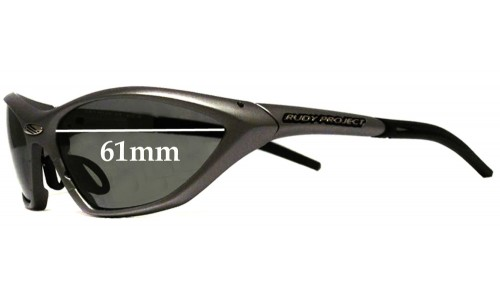 Sunglass Fix Sunglass Replacement Lenses for Rudy Project Ekynox SX - 61mm Wide