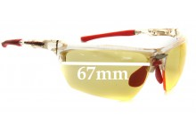 Sunglass Fix Sunglass Replacement Lenses for Rudy Project Noyz - 67mm Wide