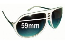 Sunglass Fix Sunglass Replacement Lenses for Sabre Crue - 59mm Wide
