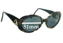 Sunglass Fix Sunglass Replacement Lenses for ST JOHN S 500 - 51mm Wide