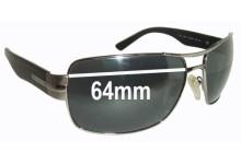Sunglass Fix Sunglass Replacement Lenses for Salvatore Ferragamo 1170 - 64mm Wide
