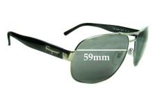 Sunglass Fix Sunglass Replacement Lenses for Salvatore Ferragamo 1185 - 59mm Wide