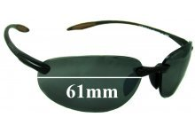 Sunglass Fix Sunglass Replacement Lenses for Serengeti Celcio - 61mm Wide