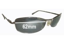 Sunglass Fix Sunglass Replacement Lenses for Serengeti Lassen - 62mm Wide