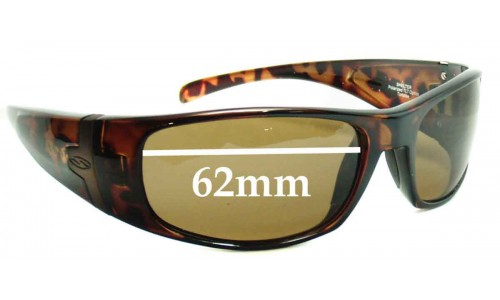 Sunglass Fix Sunglass Replacement Lenses for Smith Shelter - 62mm Wide