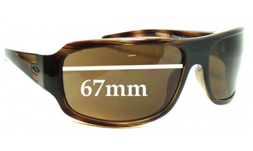 Sunglass Fix Sunglass Replacement Lenses for Smith Turntable - 67mm Wide
