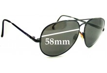 Sunglass Fix Sunglass Replacement Lenses for Spotters Aviator - 58mm Wide