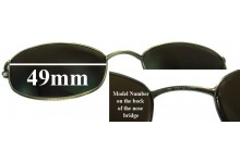 Sunglass Fix Sunglass Replacement Lenses for Tommy Hilfiger TH 3001 Clip On - 49mm Wide