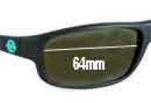 Sunglass Fix Sunglass Replacement Lenses for Vuarnet 4120 - 64mm Wide