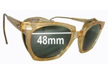 Sunglass Fix Sunglass Replacement Lenses for Willson 6 3/4 Safety Glasses - 48mm Wide