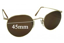 Sunglass Fix Sunglass Replacement Lenses for Algha 20 Vintage - 45mm Wide