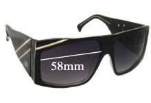 Sunglass Fix Sunglass Replacement Lenses for AM Eyewear Karslbro - 58mm Wide