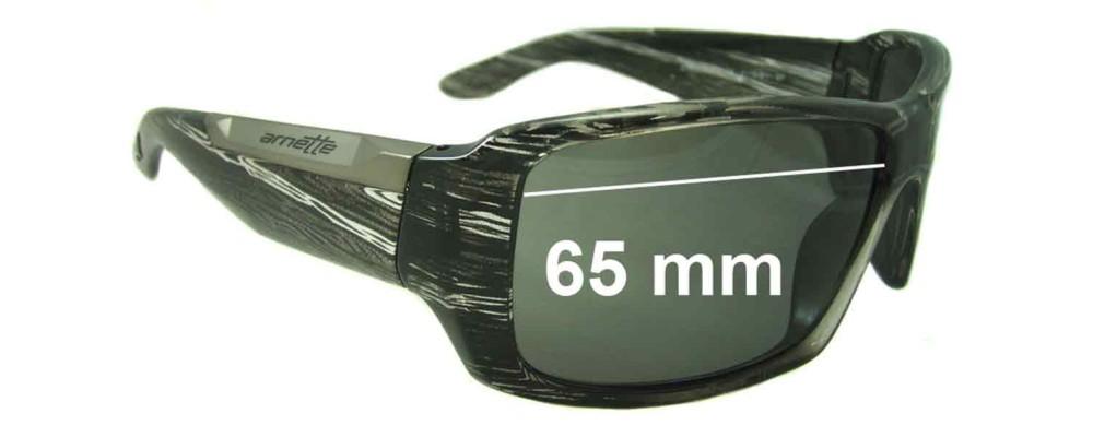 Sunglass Fix Replacement Lenses for Arnette Big Deal AN4168 - 65mm Wide