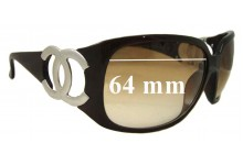 Sunglass Fix Sunglass Replacement Lenses for Chanel 6014 - 64mm Wide
