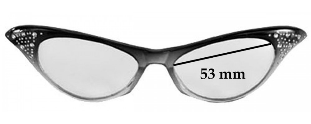Sunglass Fix Sunglass Replacement Lenses for Dr Peepers S32135 - 53mm Wide